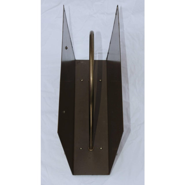 English Brass Magazine Holder by Peerage For Sale - Image 4 of 11