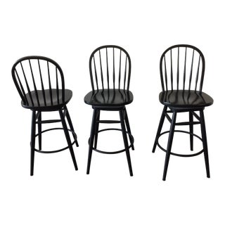 Ethan Allen Swivel Bar Stools - Set of 3 For Sale