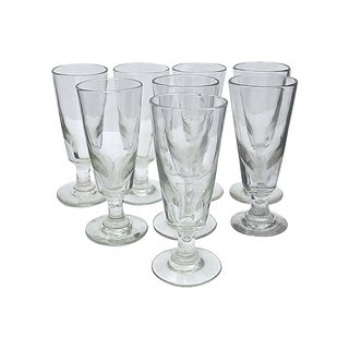 Antique French Bistro Absinthe Glasses - Set of 8