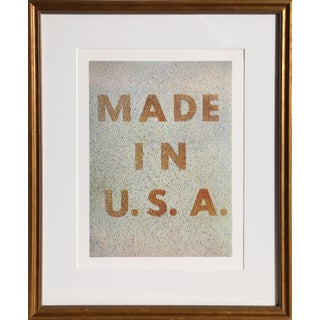 """Ed Ruscha, """"America: Her Best Product (Made in u.s.a.)"""", Pop Art Lithograph For Sale"""