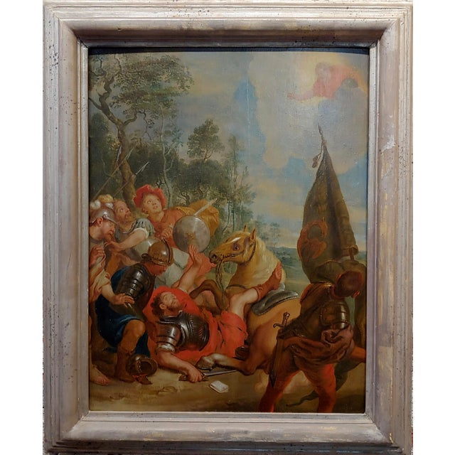 16th/17th century Old Master - Wounded Warrior - Oil painting Old Master - oil painting on Board circa 1580/1700s frame...