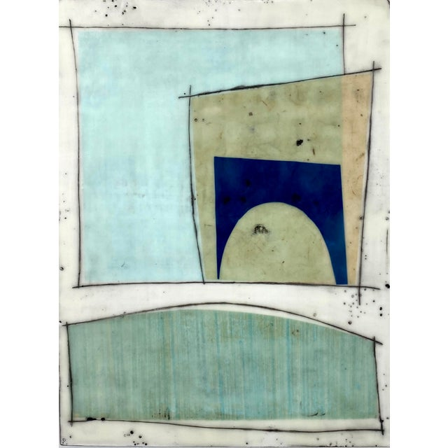 """""""Notes to My Younger Self"""" 9 Panels Encaustic Collage Installation by Gina Cochran For Sale - Image 10 of 13"""