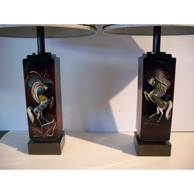 Mid-Century Modern Rare Sascha Brastoff Mid-Century Lamps - A Pair For Sale - Image 3 of 8