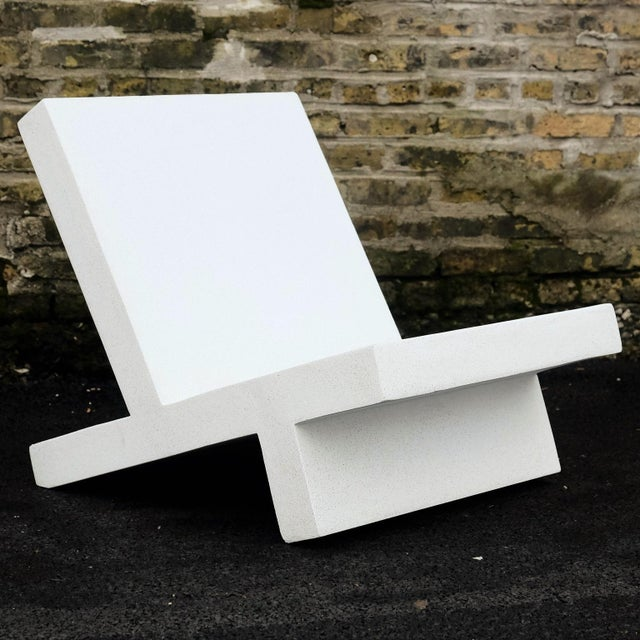 The Wavebreaker chair is pictured in our white stone finish. The modern, minimal look of concrete make it appropriate for...
