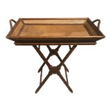 Image of Boho Chic Tray Top Table For Sale