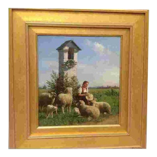 19th C. Oil Painting by Carl Seibels For Sale