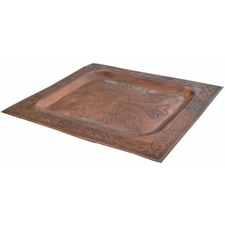 Engraved Arabesque Copper Tray Preview