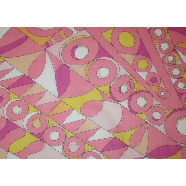 Large Emilio Pucci Cotton Sarong Length Scarf For Sale In Atlanta - Image 6 of 12