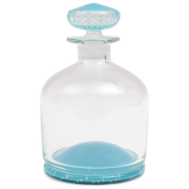 Tiffany Blue Glass Decanter, Classic Shape, Many Colors Available, Custom For Sale - Image 10 of 10
