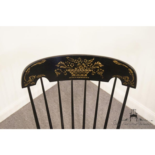 Late 20th Century Tell City Black and Gold Hitchcock Style Rocking Chair For Sale - Image 5 of 10