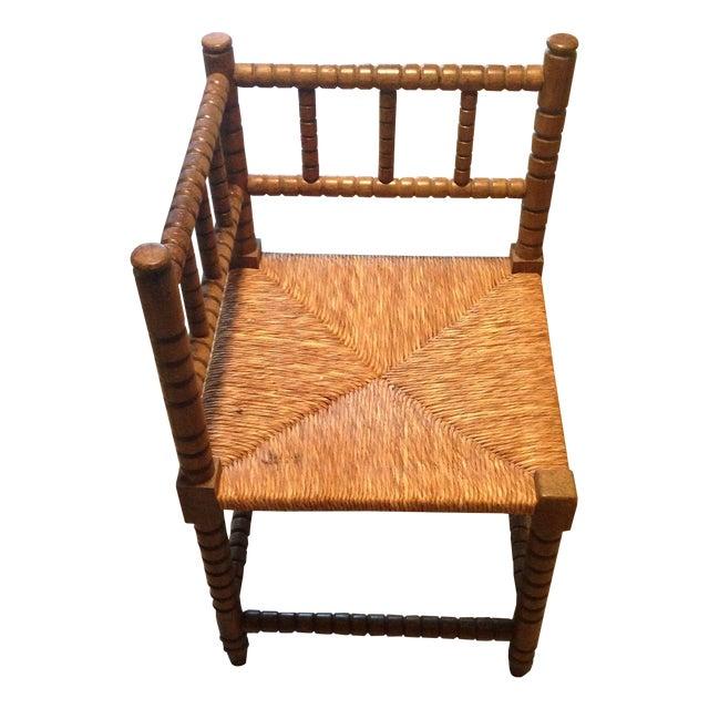 Corner Cane Spool Chair - Image 1 of 7