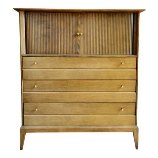 Heywood Wakefield Mid-Century Cadence Collection Tallboy Dresser For Sale
