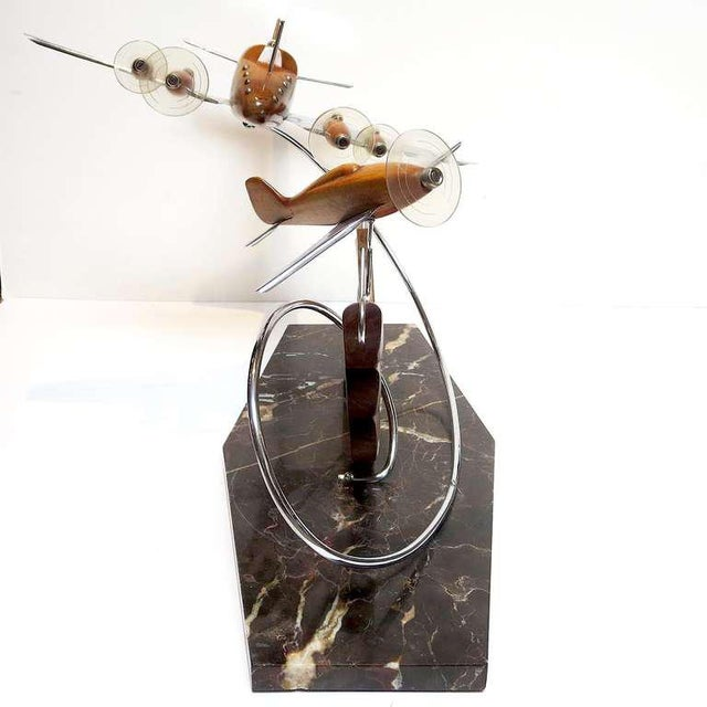 1930s French Art Deco Airplane Sculpture For Sale - Image 5 of 7