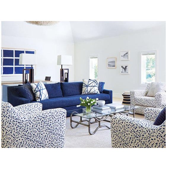 """Not Yet Made - Made To Order Peter Fasano """"Double Dotty"""" Cobalt Pillows - a Pair For Sale - Image 5 of 6"""