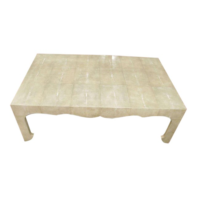 Chinoiserie Style Shagreen Cocktail Table For Sale
