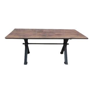 Custom Walnut Mill Table For Sale