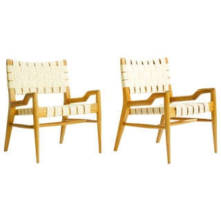 John Keal Oakwood Lounge Chairs - a Pair For Sale