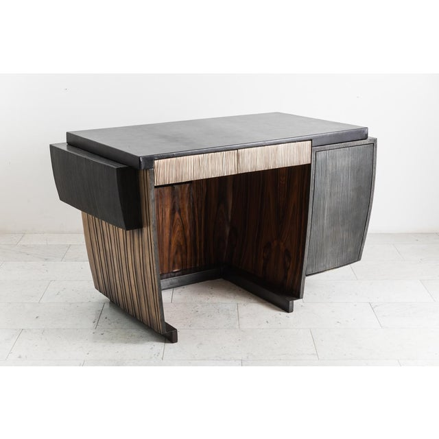 Blackened Steel and Layered Bronze Desk, Usa, 2019 For Sale - Image 9 of 13