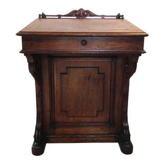 19th Century Victorian American Captain's Desk For Sale