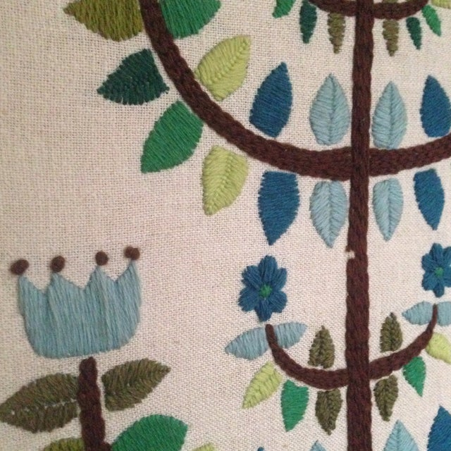 Vintage Tree of Life Textile Wall Art - Image 10 of 11