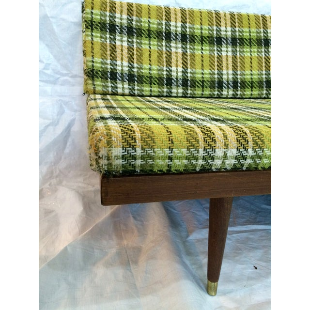 Green Mid-Century Green Plaid Daybed Sofa For Sale - Image 8 of 10