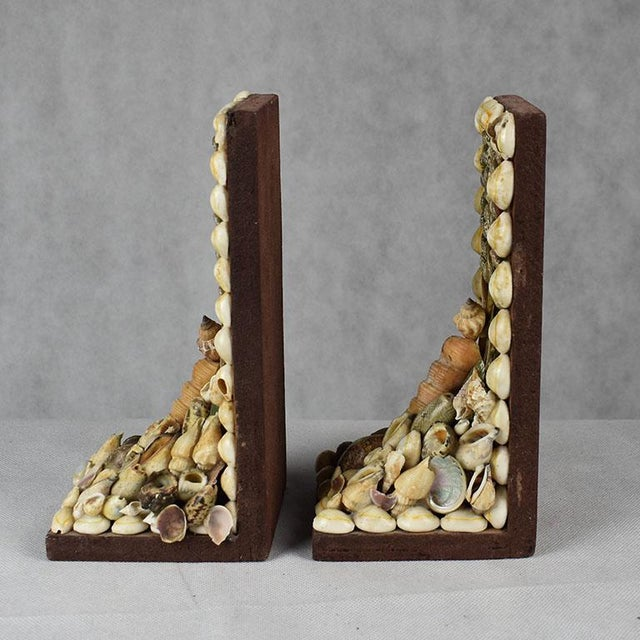 Shell Shell Encrusted Bookends - a Pair For Sale - Image 7 of 9
