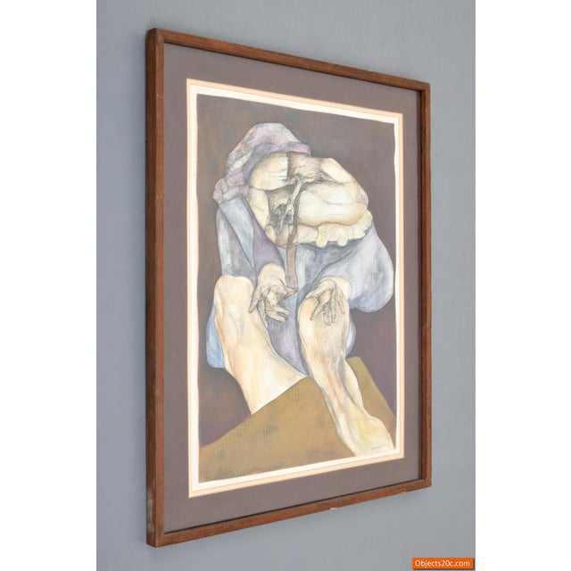 1970s Vintage Fernando Luis Dominguez Abstract Figural Painting For Sale In West Palm - Image 6 of 6