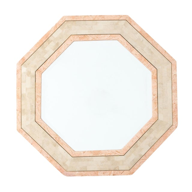 Maitland-Smith Octagonal Tessellated Stone Mirror - Image 1 of 3