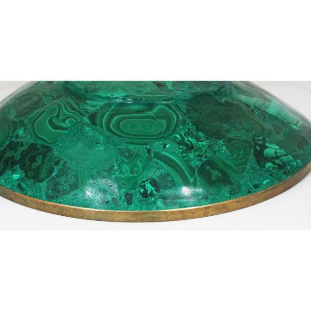 1940s Large Malachite Bowl For Sale - Image 5 of 7