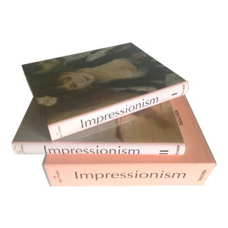 Impressionism Two Volumes Double Books Large Hardcover Slipcase Collector's Art Books - a Pair For Sale