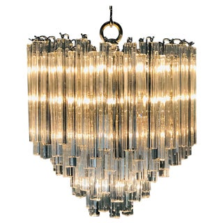 Glamorous Venini Chandelier For Sale