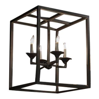 Italian Small Square Chandelier For Sale