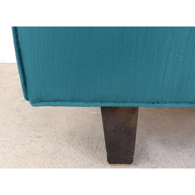 Turquoise Thayer Coggin Club Chairs in Velvet - A Pair For Sale - Image 8 of 10