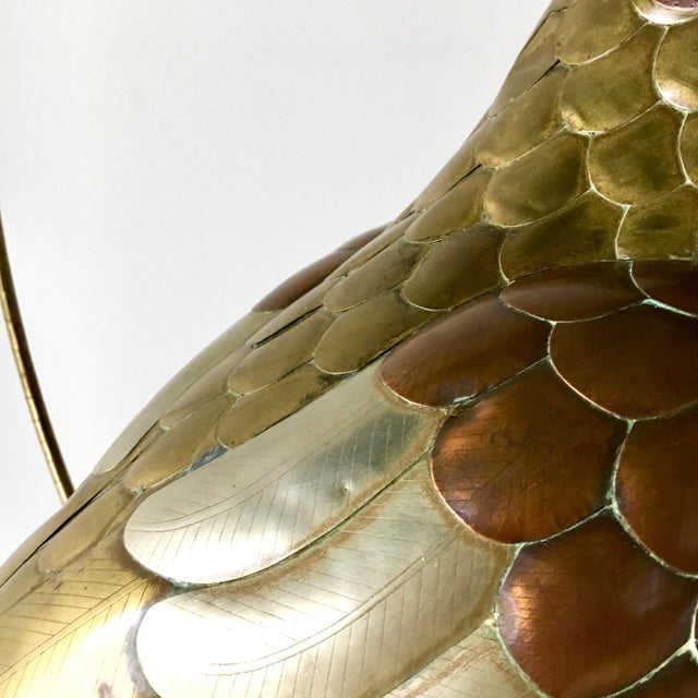 Copper and Brass Parrot by Sergio Bustamante 1960s For Sale - Image 6 of 7