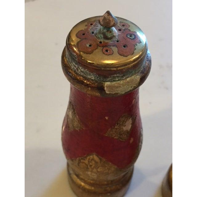 Vintage Acciaio Garant Florentine Salt & Pepper Shakers For Sale - Image 4 of 7