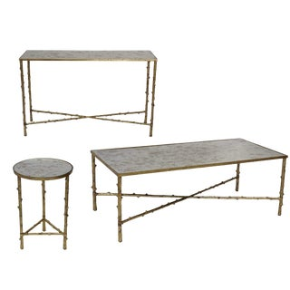 Contemporary Glostrup Coffee Table, Console Table & End Table Set - 3 Pieces For Sale