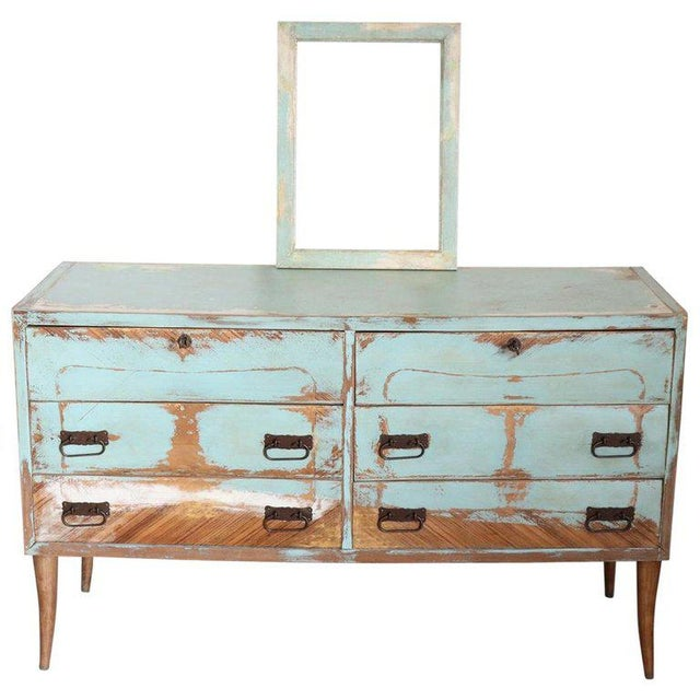 20th Century Italian Vintage Design Lacquered Commode or Chest With Frame For Sale - Image 13 of 13