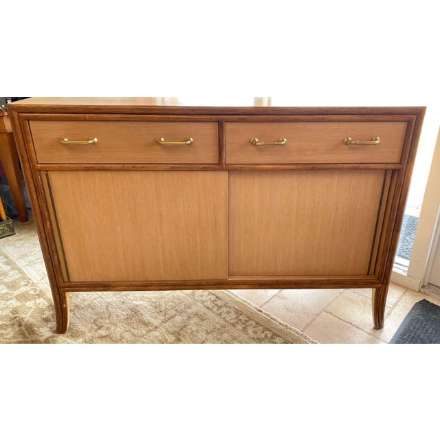 "McGuire sideboard/ console/ media cabinet matches the ""Target"" dining set we are selling. Very pleasing California coast/..."