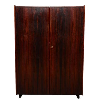 Danish Modern Rosewood Hideaway Desk Cabinet, Kofod Larsen For Sale
