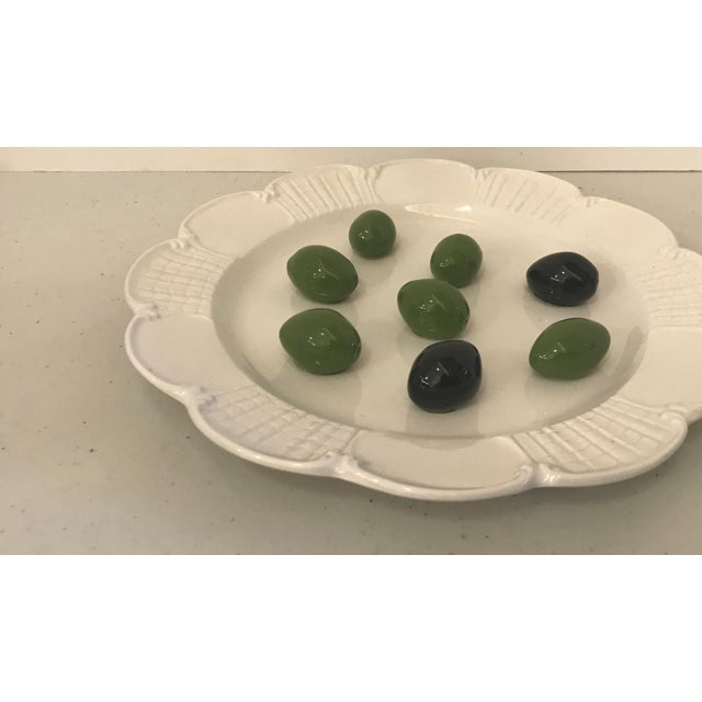 Italian Italian Este Trompe L'Oeil Olive Plate For Sale - Image 3 of 10