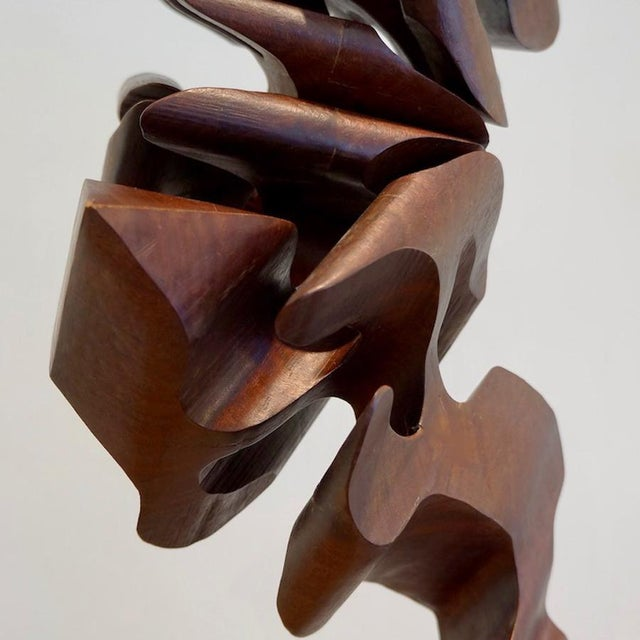 Brown 1970s Sculpture by Jerry K. Deasy For Sale - Image 8 of 10