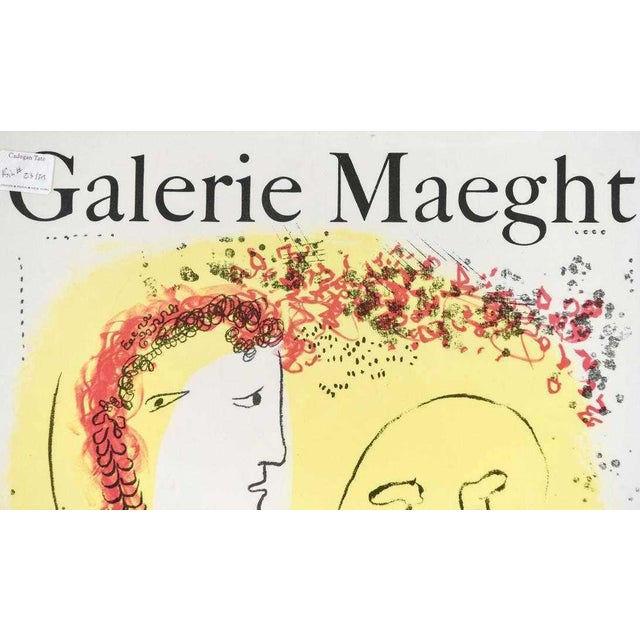 Original lithograph exhibition poster, issued by the Galerie Maeght for an exhibition of Marc Chagall (1887-1985),...