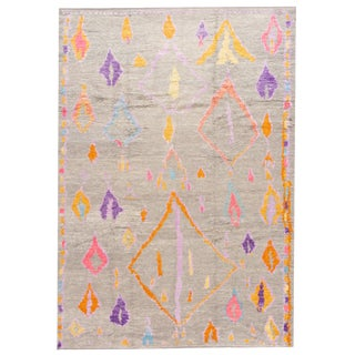 "Modern Moroccan Style Rug, 8'9"" X 12'5"" For Sale"