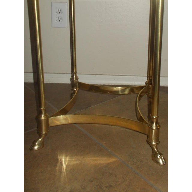 La Barge Glass & Brass End Table - A Pair - Image 5 of 5