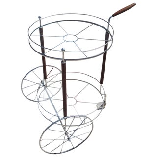 Ultra Charming Rolling Cocktail Trolley Cart