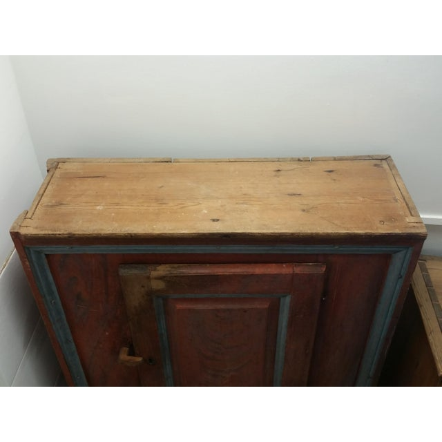 Paint Painted Swedish Antique Cabinet For Sale - Image 7 of 9