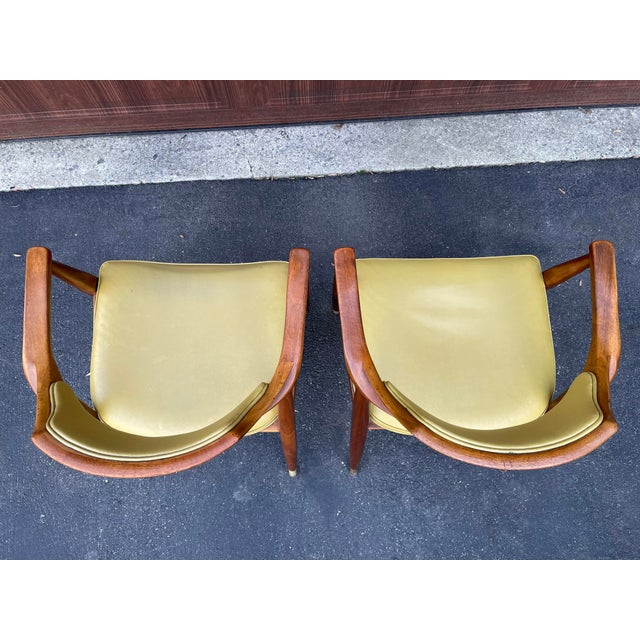 Mid 20th Century Walnut Jasper Armchairs - a Pair For Sale In Philadelphia - Image 6 of 10