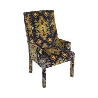 Henredon Vintage Southwood Upholstered Parsons Arm Chair For Sale