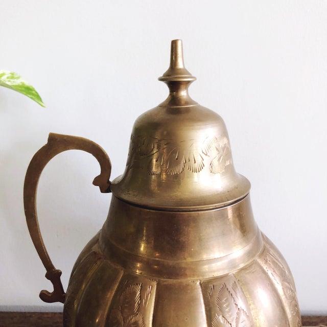 Vintage Brass Indian Samovar Tea Dispenser For Sale - Image 4 of 6