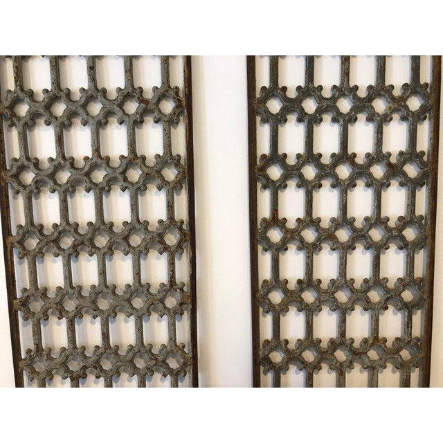 Rustic Mid 19th Century British Decorative Iron Panels- a Pair For Sale - Image 3 of 8